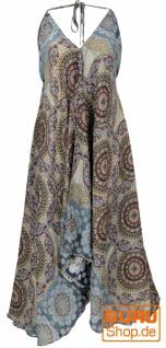Boho Sommerkleid, Magic Dress, Maxikleid, Nackholder Strandkleid - blaugrau