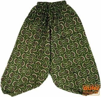 Kinder Haremshose, Pluderhose, Pumphose, Aladinhose - grün