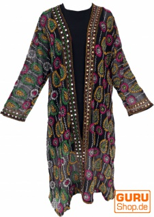 Kimonokleid, Boho Kimono, Kimonomantel - schwarz