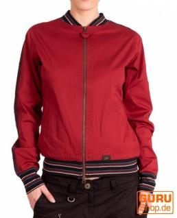 College-Jacke aus Bio-Baumwolle / Chapati Design - burgundy