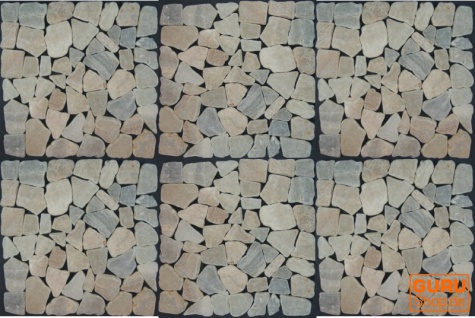 Mosaikfliese aus gelbem Onyx (S-06) - Design 9 - Vorschau 3