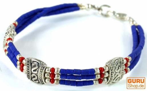 Tibetschmuck Perlenarmband, Ethnoarmband - Modell 5