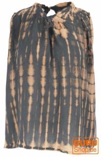 Batik Boho Blusentop - anthrazit