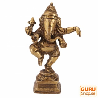 Messingfigur Ganesha Statue, tanzender Ganesha 11 cm - Motiv 16