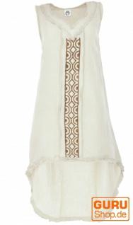 Natürliches Tunikakleid, Boho Sommerkleid - leinenfarben
