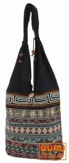 Sadhu Bag, Ethno Schulterbeutel, Hippie Tasche aus Thailand - olivgrün