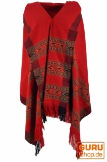 Indischer Schal / Stola, Ethno Tuch/Decke - rot