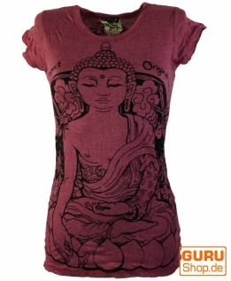 Sure T-Shirt Meditation Buddha - bordeaux