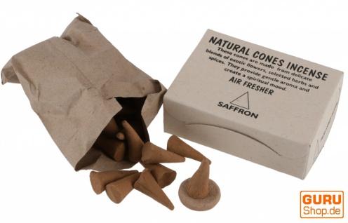Natural cones incense, natürliche Räucherkegel - Safron