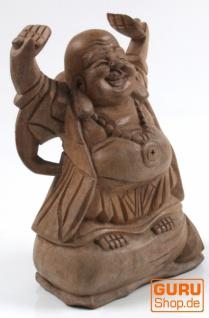 Lucky Buddha Statue 20 cm - hell - Modell 1
