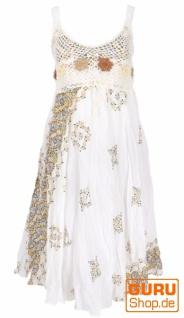 Boho Minikleid, Sommerkleid, Krinkelkleid - weiß