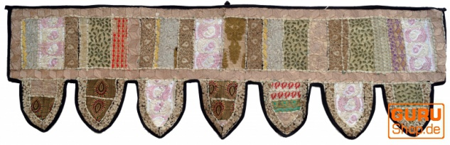 Orientalischer Wandbehang, indischer Toran, Wimpel Wandteppich, Wanddekoration, Tür Deko Einzelstück 150*45 cm - Design 12
