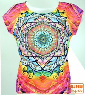 Psytrance T-Shirt, Yoga T-Shirt, Retro T-Shirt - Mandala