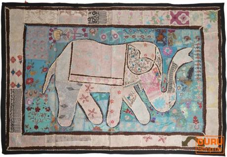 Indischer Wandteppich Patchwork Wandbehang, Einzelstück 150*100 cm - Muster 60