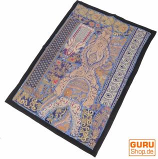 Indischer Wandteppich Patchwork Wandbehang/Tischläufer Einzelstück 90*65 cm - Muster 16