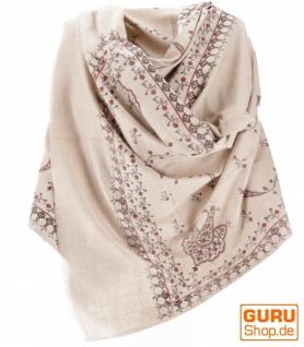 Indischer Schal / Stola, bedrucktes Ethno Tuch/Decke - Modell 1