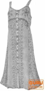 Besticktes Boho Sommerkleid, indisches Hippie Trägerkleid - grau/Design 20