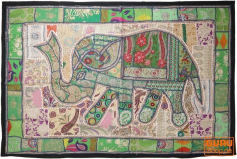 Indischer Wandteppich Patchwork Wandbehang, Einzelstück 150*100 cm - Muster 51