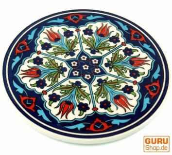 Orientalischer Keramikuntersetzer, runder Untersetzer mit Mandala Motiv - Muster 5