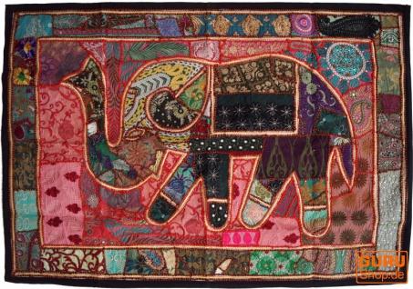 Indischer Wandteppich Patchwork Wandbehang, Einzelstück 150*100 cm - Muster 49