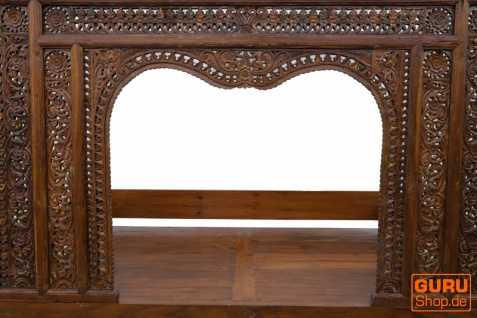 Historisches Himmelbett, Tagesbett aus Teakholz - Modell 4 - Vorschau 5