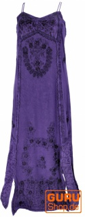 Besticktes Boho Sommerkleid, indisches Hippie Kleid - blau/Design 21