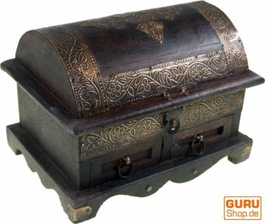Rustikale kleine Schatztruhe, Holzschachtel, Schmuck Dose - Modell 7