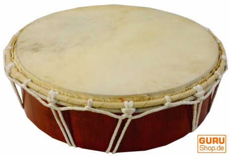 Flache Holztrommel, Percussion Rhythmus Klang Instrumente, Frame Drum, Hand Trommel - 32 cm