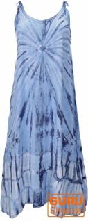 Boho Batikkleid, Strandkleid, Sommerkleid in Übergröße - blau