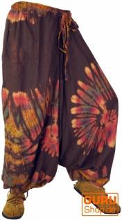 Batik Pluderhose Aladinhose - braun