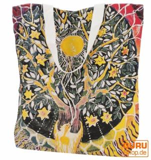Mirror Shopper Tasche, Einkaufstasche, Strandtasche - Tree of life