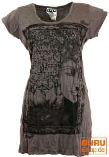 Sure Long Shirt, Minikleid Mantra Buddha - taupe