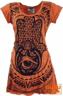 Sure Long Shirt, Minikleid Fatimas Hand - rostorange