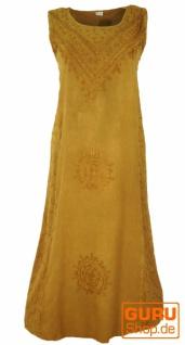 Besticktes Boho Sommerkleid, indisches Hippie Kleid, mustard - Design 7