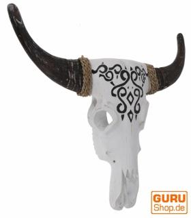 Große Maske Buffalo Skull Maske aus Balsaholz - Modell 2 - Vorschau 2