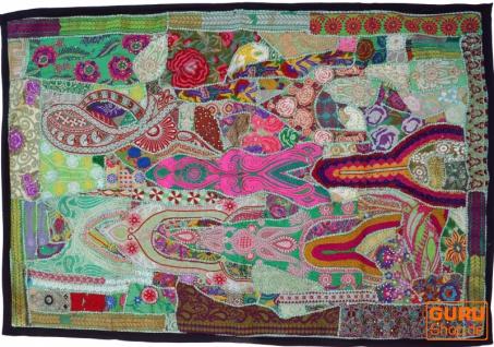 Indischer Wandteppich Patchwork Wandbehang, Einzelstück 150*100 cm - Muster 47