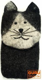 Filz Handytasche Katze