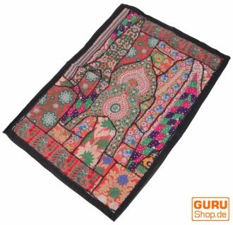 Indischer Wandteppich Patchwork Wandbehang/Tischläufer Einzelstück 90*65 cm - Muster 14
