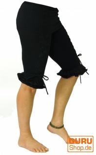 Elfen Leggings, Psytrance Goa Stretch Spitzenleggings Damenhose - schwarz