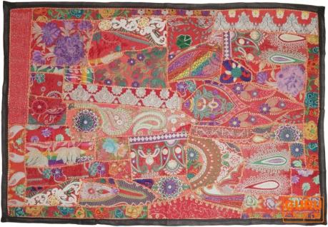 Indischer Wandteppich Patchwork Wandbehang, Einzelstück 150*100 cm - Muster 1