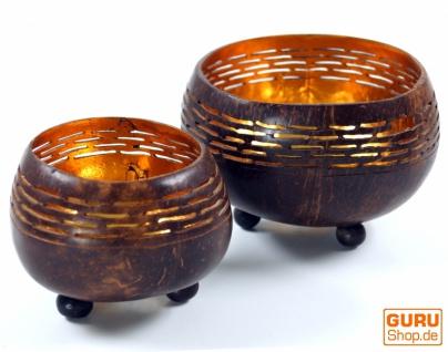 Exotisches Kokosnuss Teelicht in 2 Größen