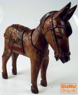 Geschnitztes Pferd, Dekoobjekt aus Holz - Design 3