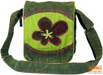 Kleine Schultertasche, Hippie Tasche, Goa Tasche - grün