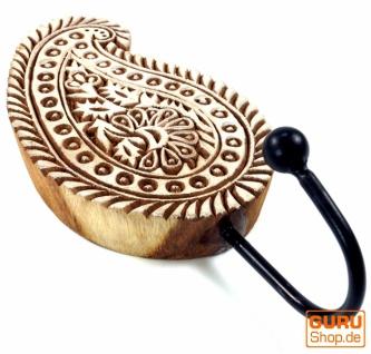 Indischer Wandhaken Ornament - Paisley