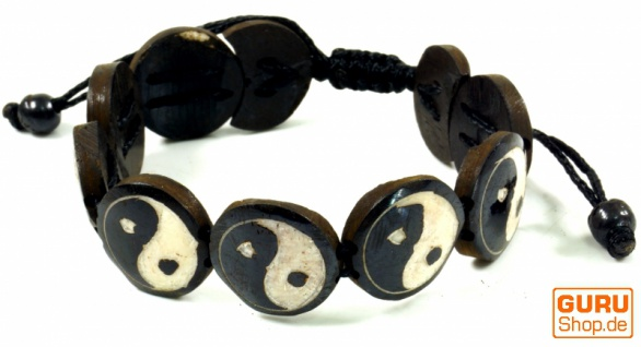 Yin Yang Armband - schwarz
