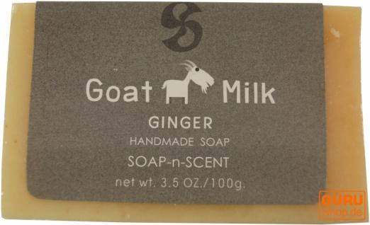 Handgemachte Ziegenmilch Seife, 100 g Fair Trade - Ingwer