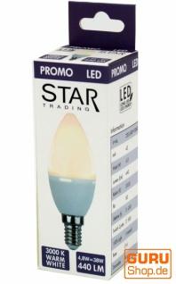 4, 8 W LED Lampe Kerzenform E14 (440LM ~ 38W) - warmweiß