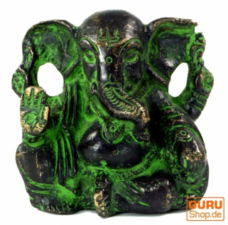 Messingfigur Ganesha Statue, Baby Ganesha 5 cm - Motiv 4 - Vorschau 1