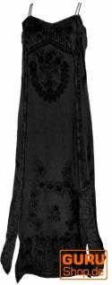 Besticktes Boho Sommerkleid, indisches Hippie Kleid - lemongrün/Design 21