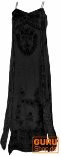 Besticktes Boho Sommerkleid, indisches Hippie Kleid - schwarz/Design 21